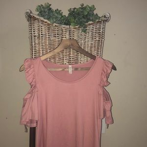 MTS pink blouse